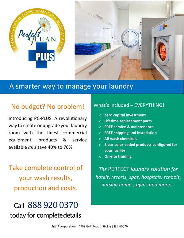 PerfectCLEAN PLUS laundry brochure