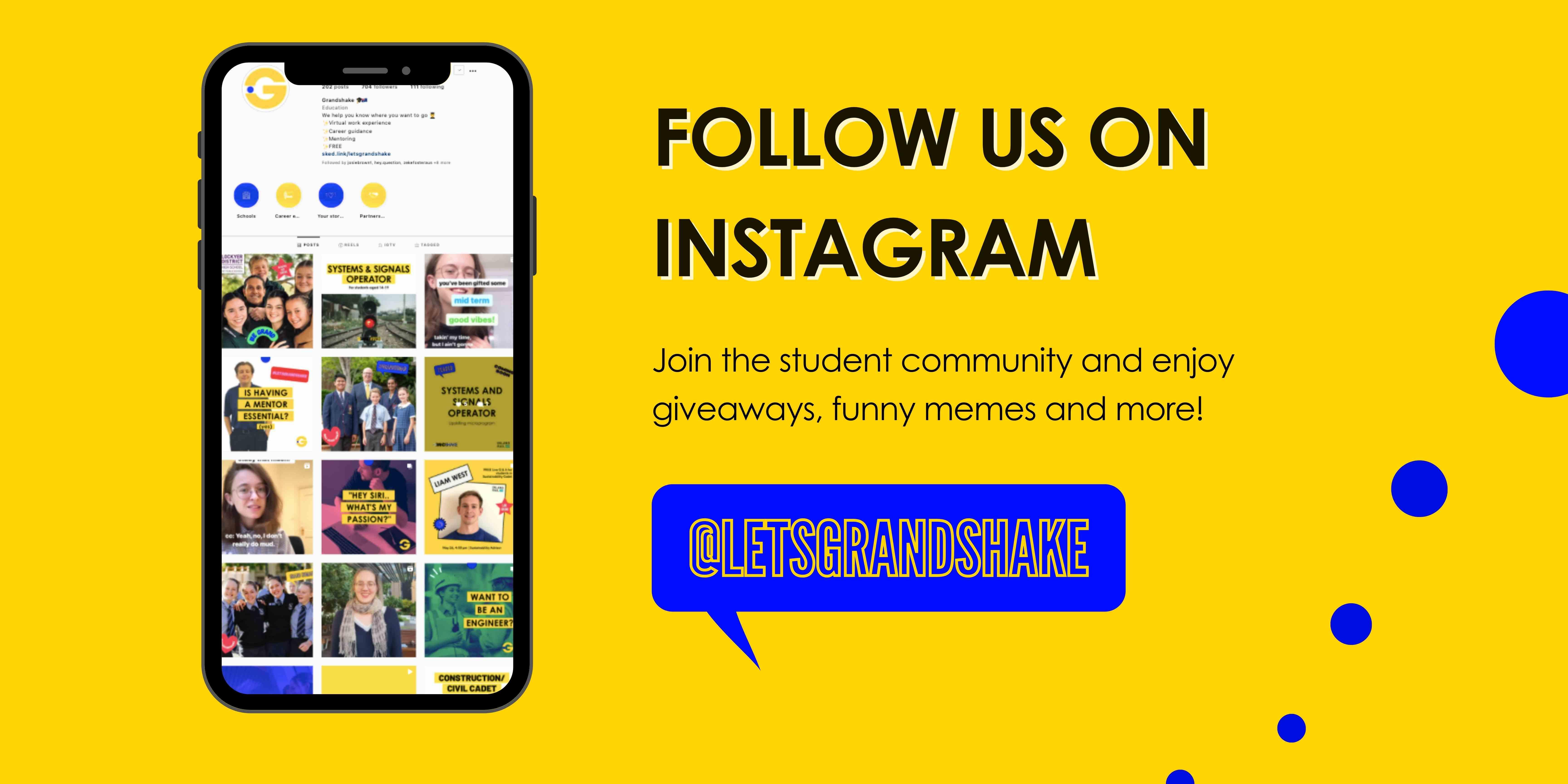 Follow Grandshake on Instagram