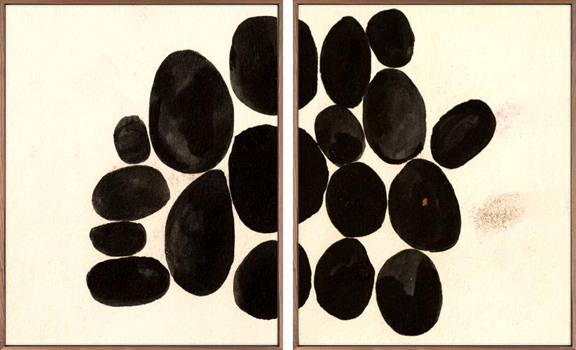 Black Stones Diptych