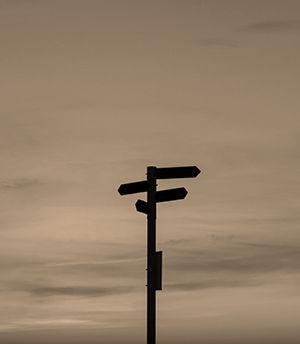 sillhouette of road signage