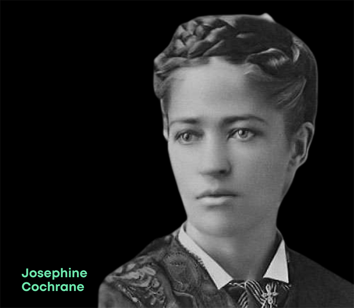 Photo of Jospehine Cochrane, inventor of the first commercially successful automatic dishwasher
