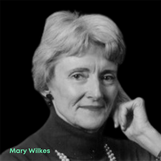 Photo of Mary Wilkes, a computer programmer and logic designer that designed the interactive operating system of the world's first personal computer.