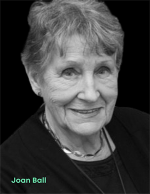 Portrait of Joan Ball, a computer scientist who created the first technology-driven dating service