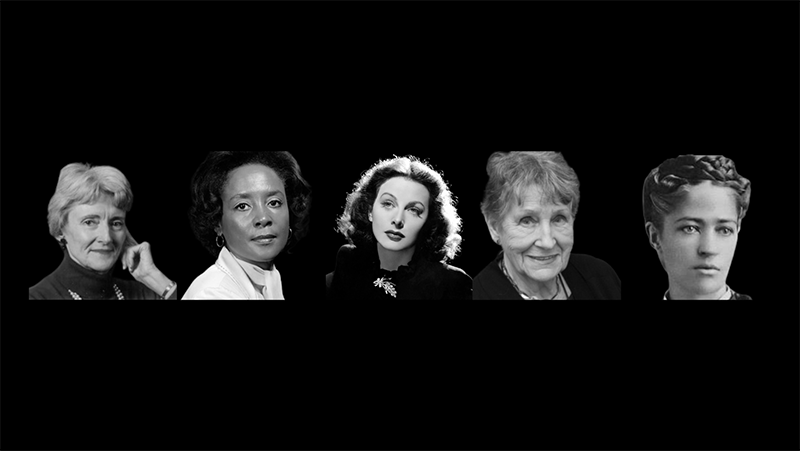 Portrait of 5 innovative women who transformed the history of technology