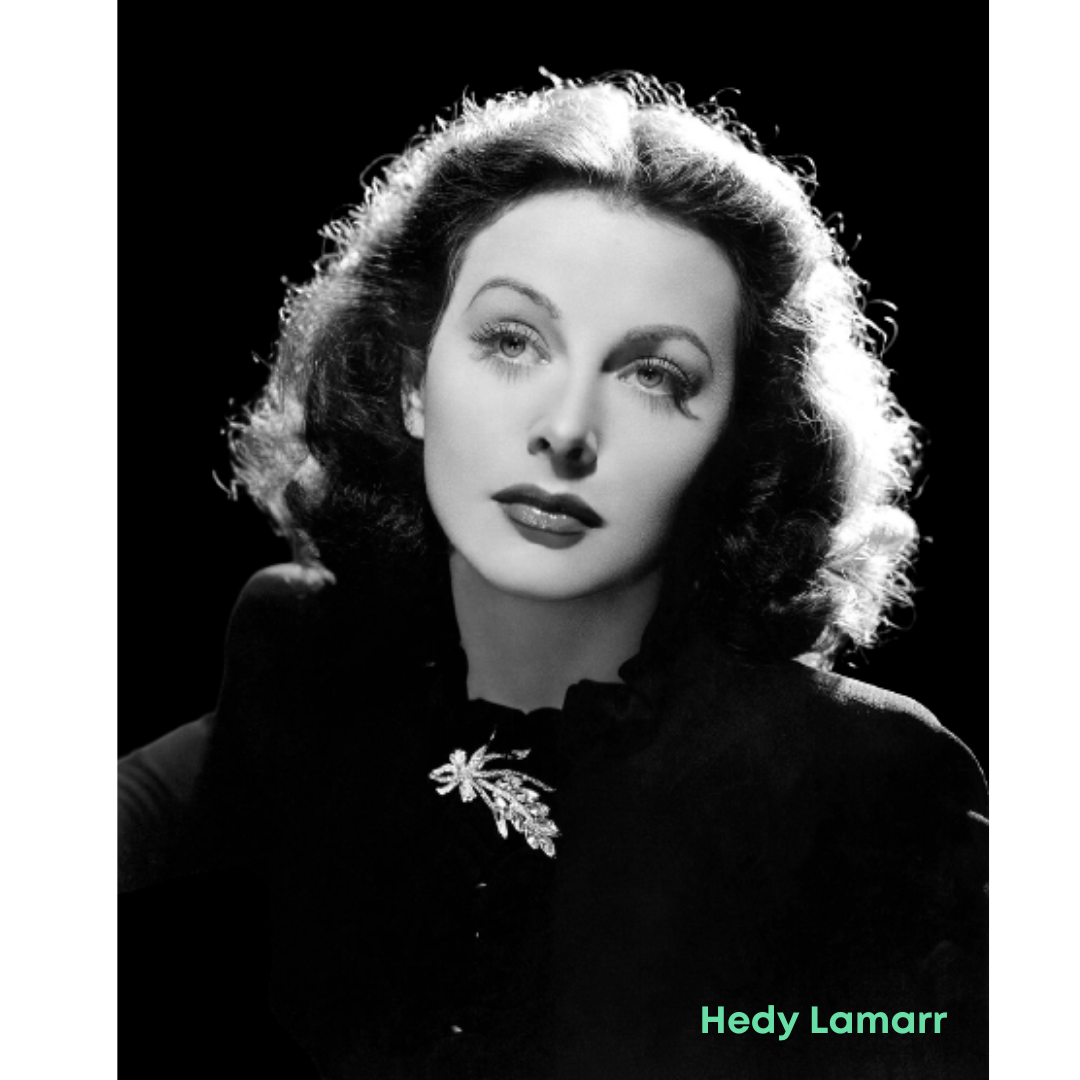 Portrait of Hedy Lamar, an inventor who set the foundation for secure Wifi, GPS, and Bluetooth