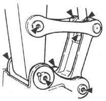 Diagrama de lubricación de las bielas del XN 08
