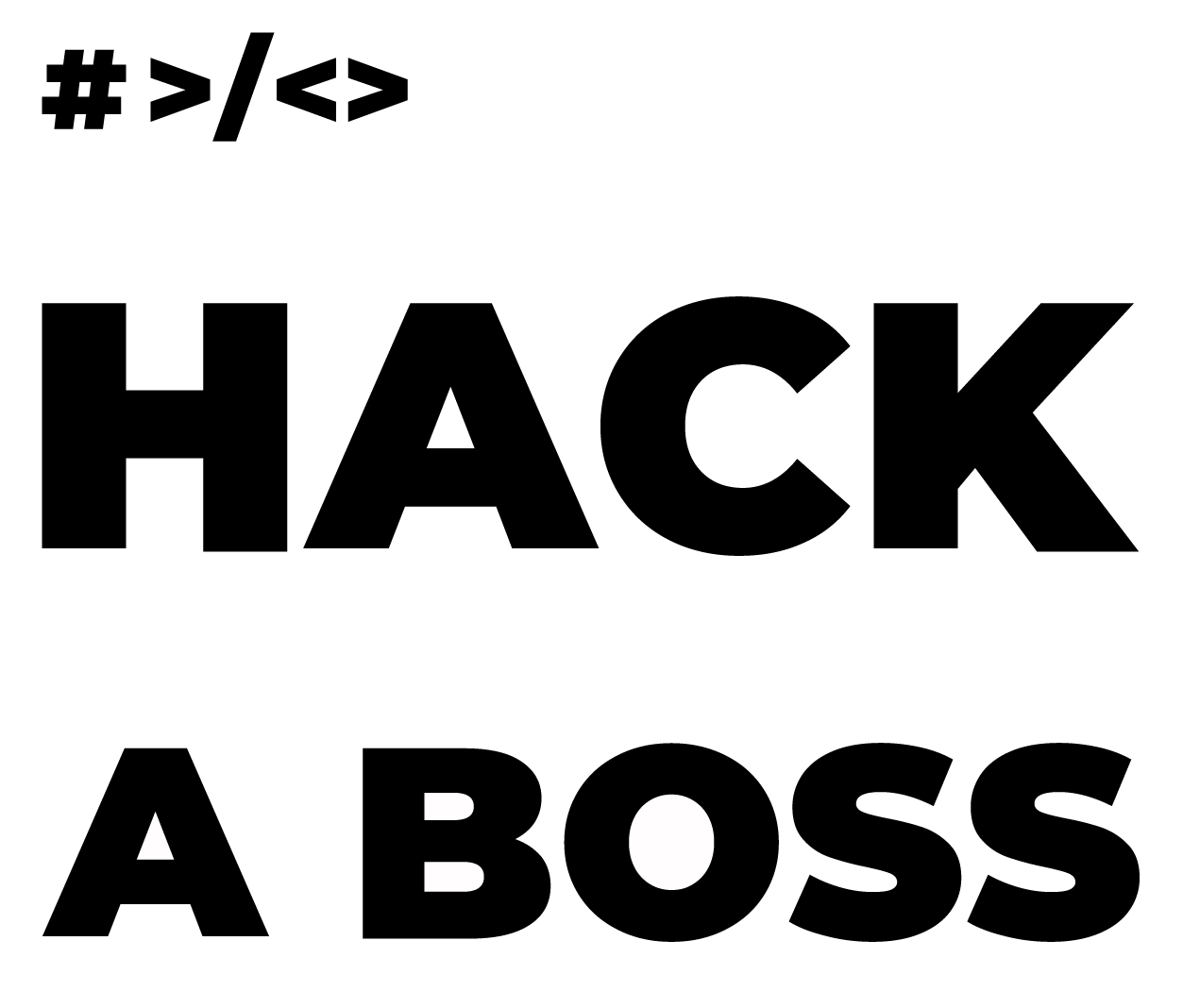 Logotipo HACK A BOSS_white