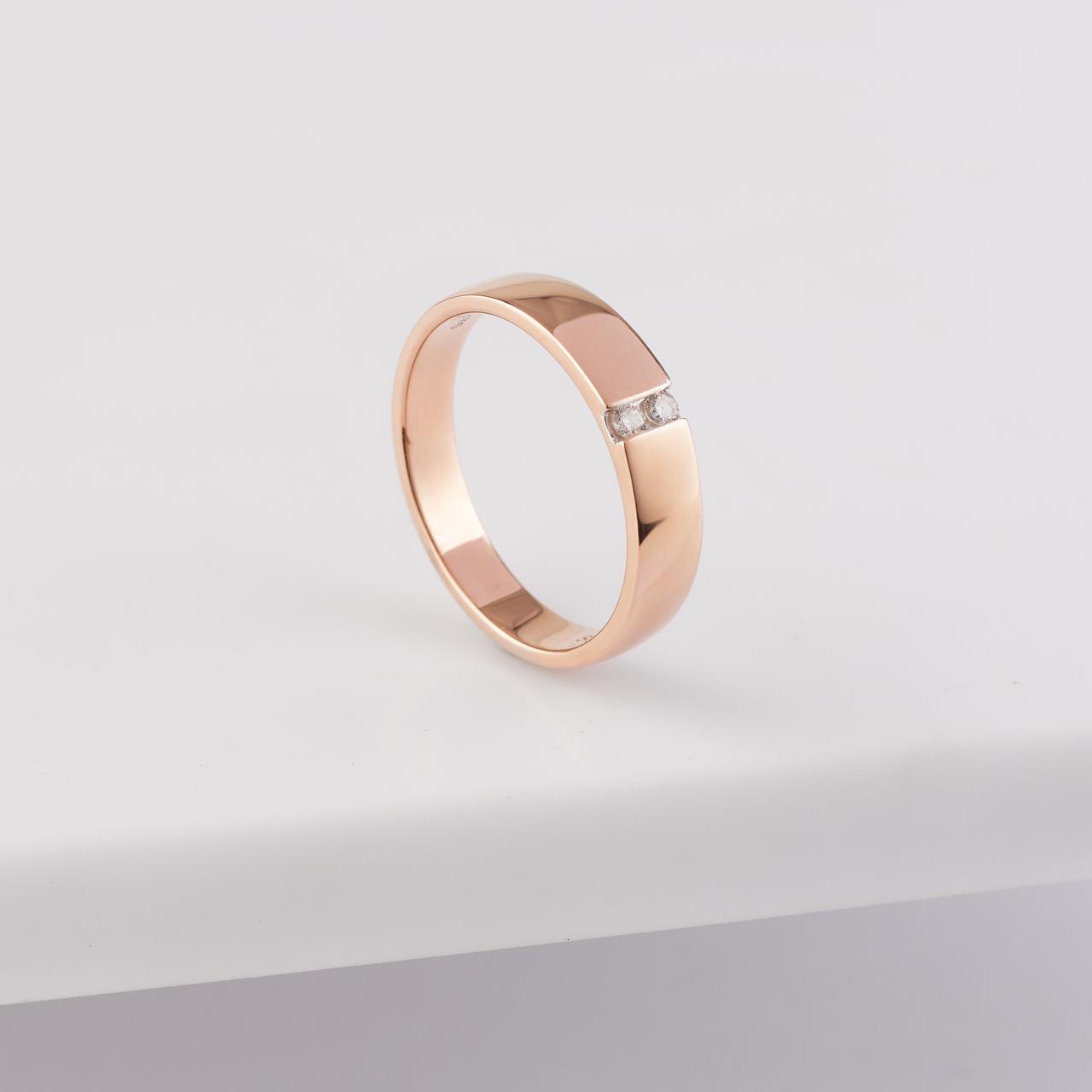9K Rose Gold Diamond Band Ring