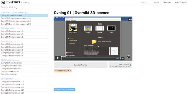 Ny plattform för gratis utbildning i 3D CAD