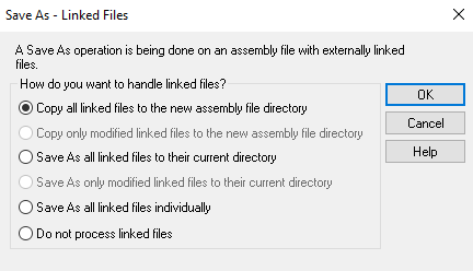 copy all linked files ironcad