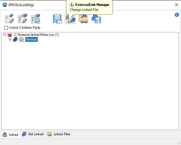 Change Linked File ironcad