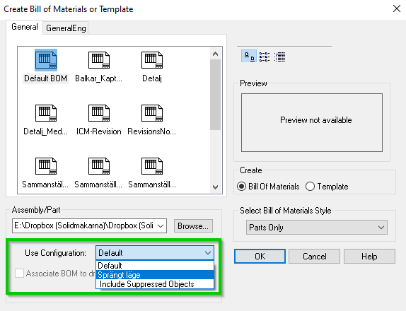 use configurations ironcad