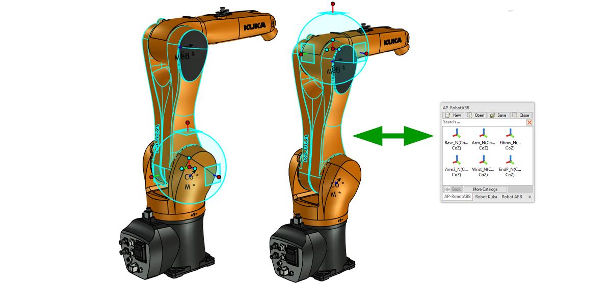 robot ironcad attatchment points