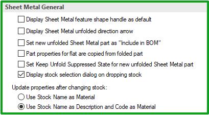sheet metal general ironcad