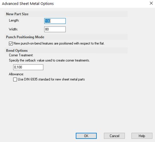 advanced sheet metal options
