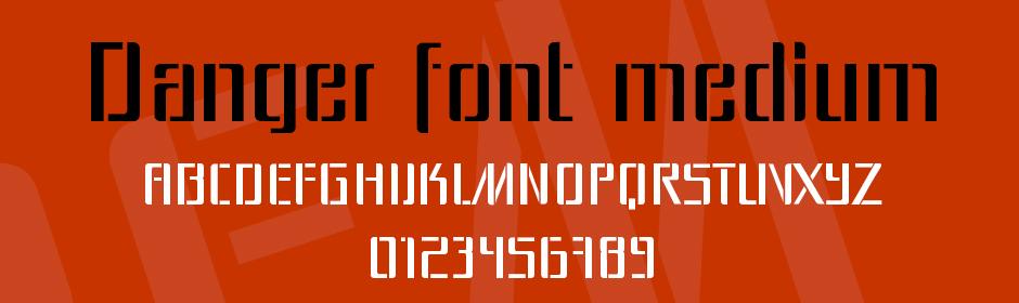 danger font