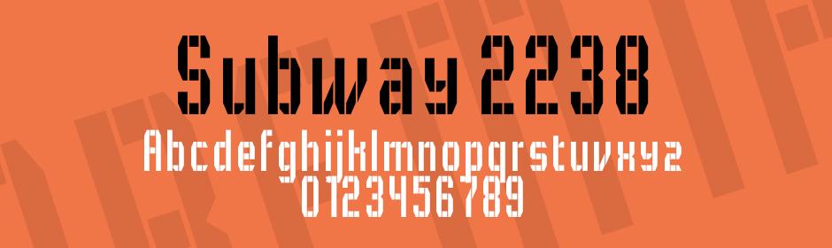 subway 2238 font