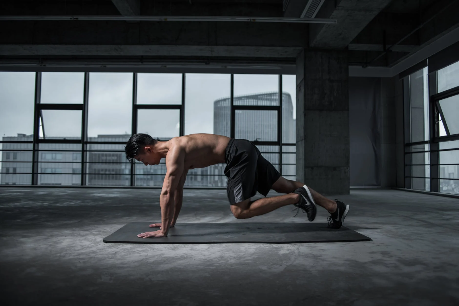 man doing a workout.