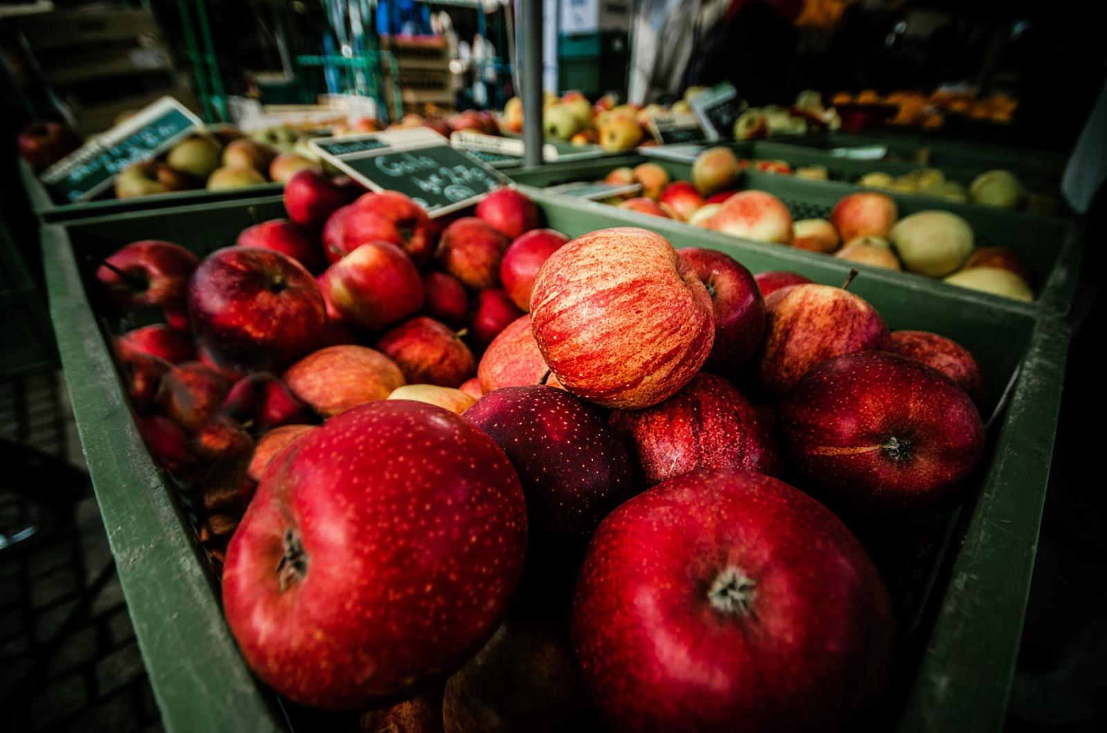 Apples in a bushel.