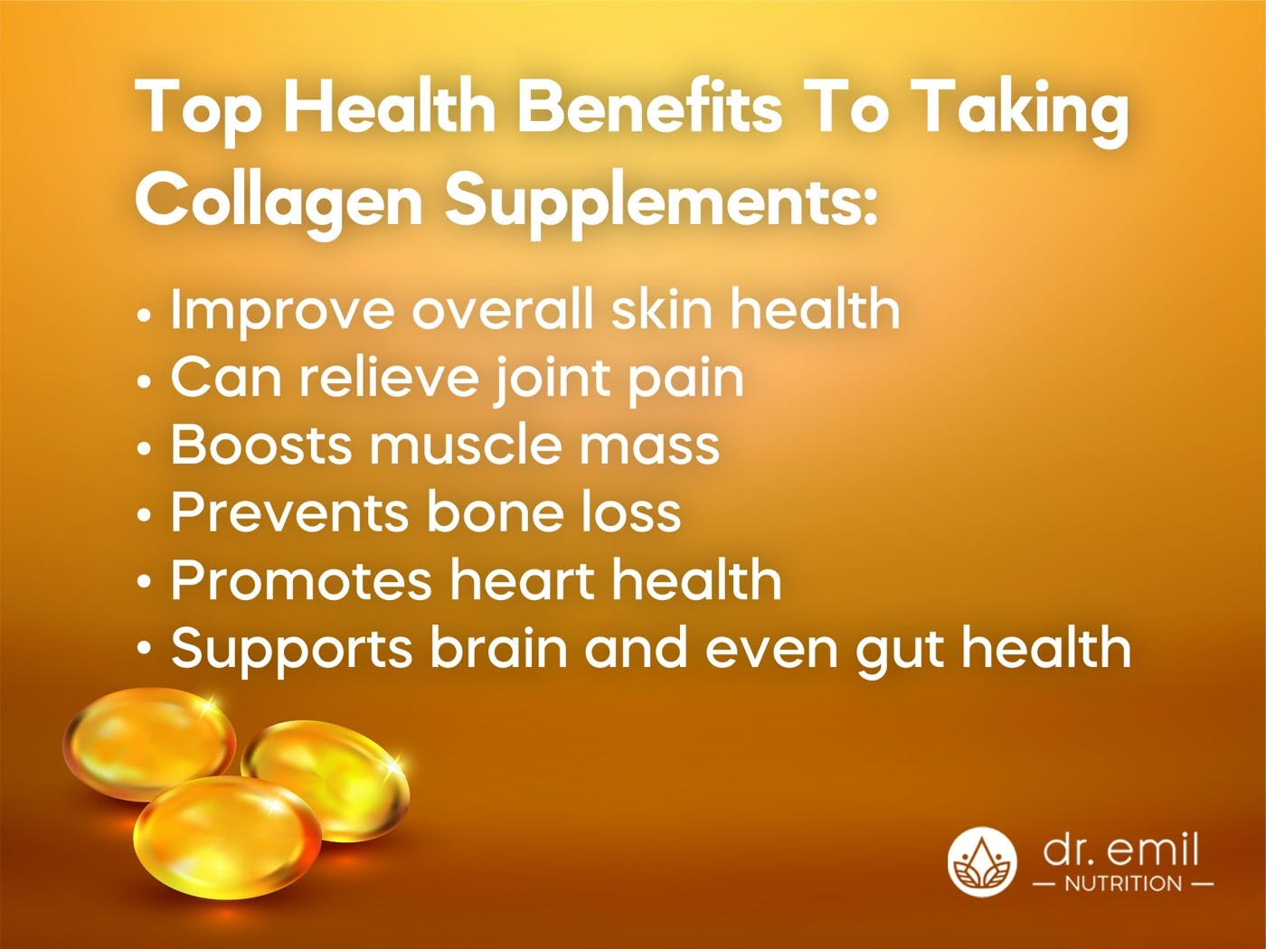 Top Health benefits to taking Collagen Supplements