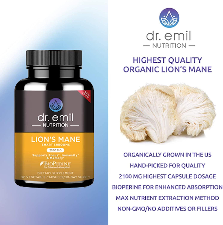dr. emil lion's mane mushroom