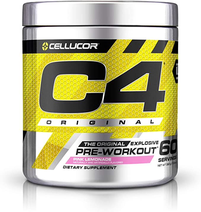 Cellucor® C4® Original Pre-Workout in Pink Lemonade flavor.