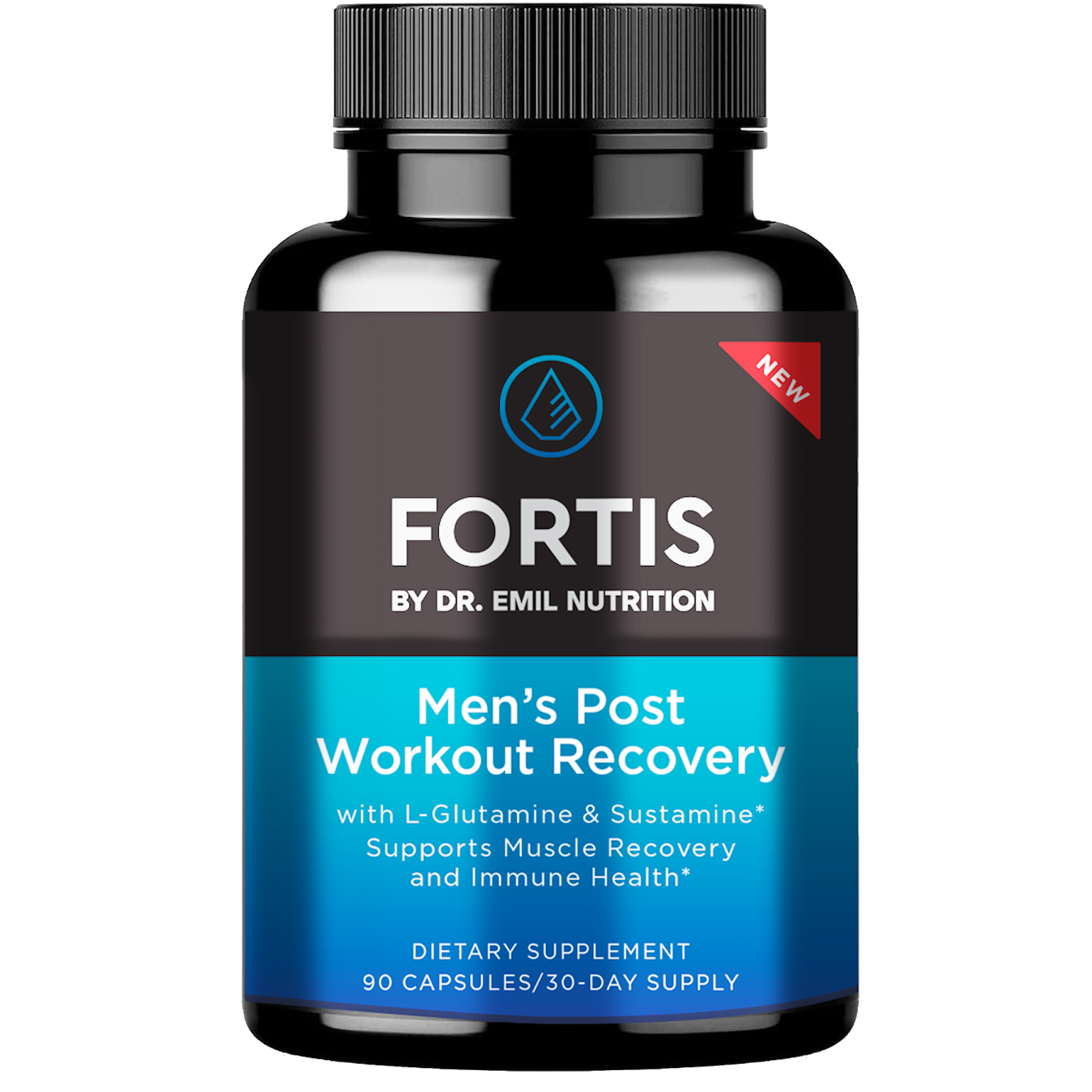 An image of Dr. Emil's post workout recovery supplement.
