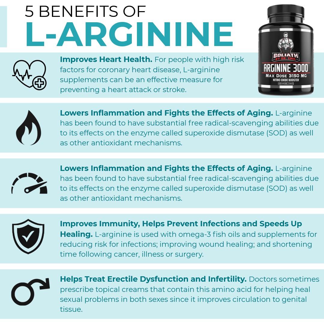 5 Benefits of L-Arginine