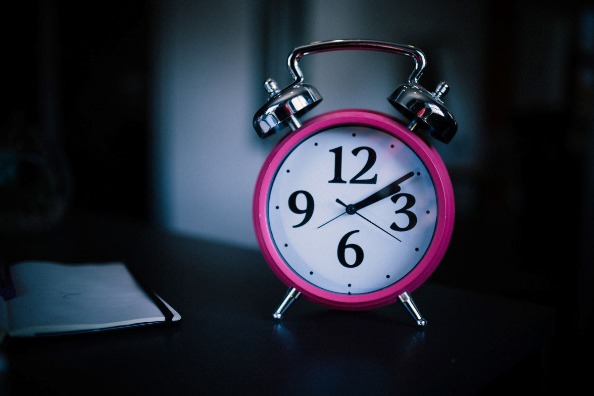 Alarm clock showing two in the morning on a sleepless night