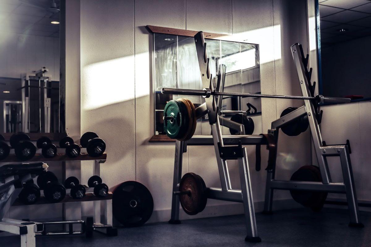 Empty Old School Gym Lit by Sunlight