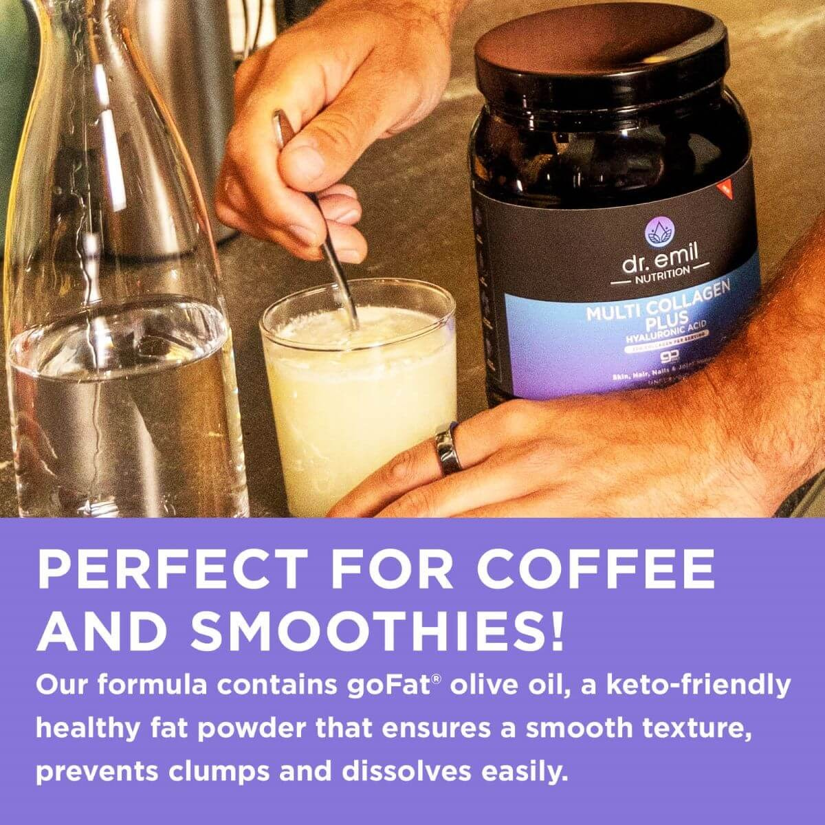 Making Iced Coffee with Dr. Emil Nutrition's Multi Collagen Plus Powder