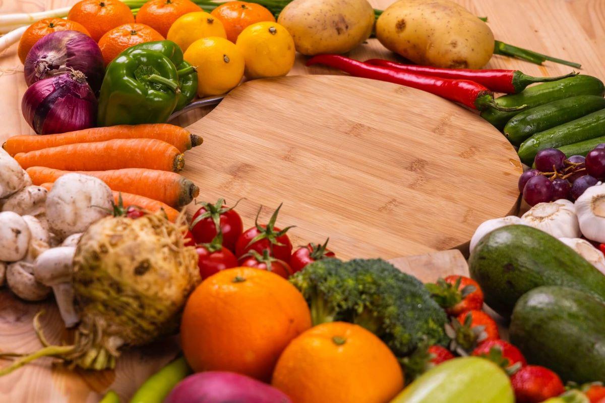 A Big Platter of Fruits and Vegetables