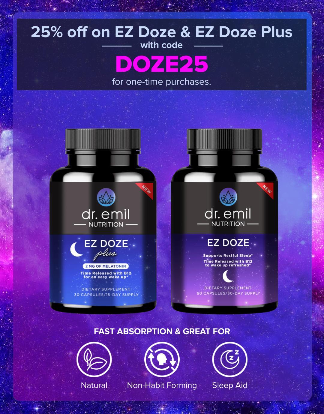 25% off on EZ Doze & EZ Doze Plus