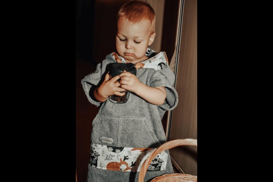 Frotē halātiņš mazajiem | Pašas taisīts