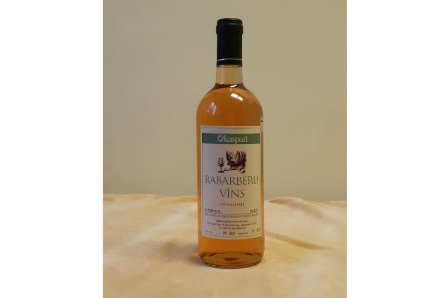 Rabarberu pussaldais vīns - alk. 15% 0,75l   Z/S Kaspari
