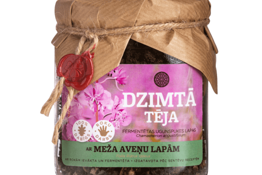 Dzimtā tēja ar fermentētām meža aveņu lapām / DzimtaisDārzs