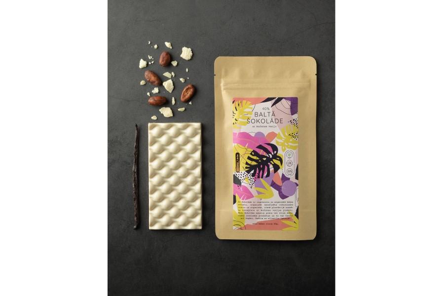 Baltā šokolāde 40% | Chocolaade SIA