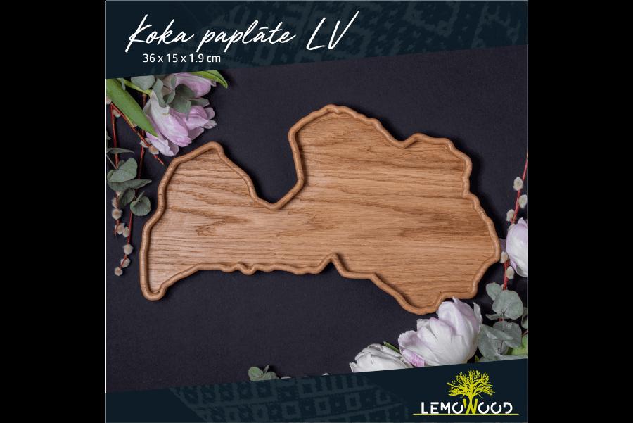 Koka paplāte Latvijas kontūrā | LemoWood SIA