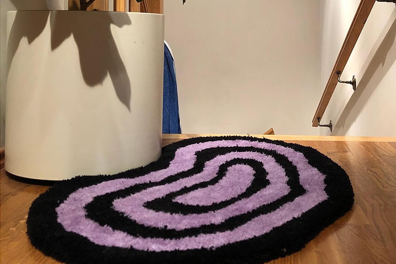 Dinamiska hipnozes stila dizaina paklājs