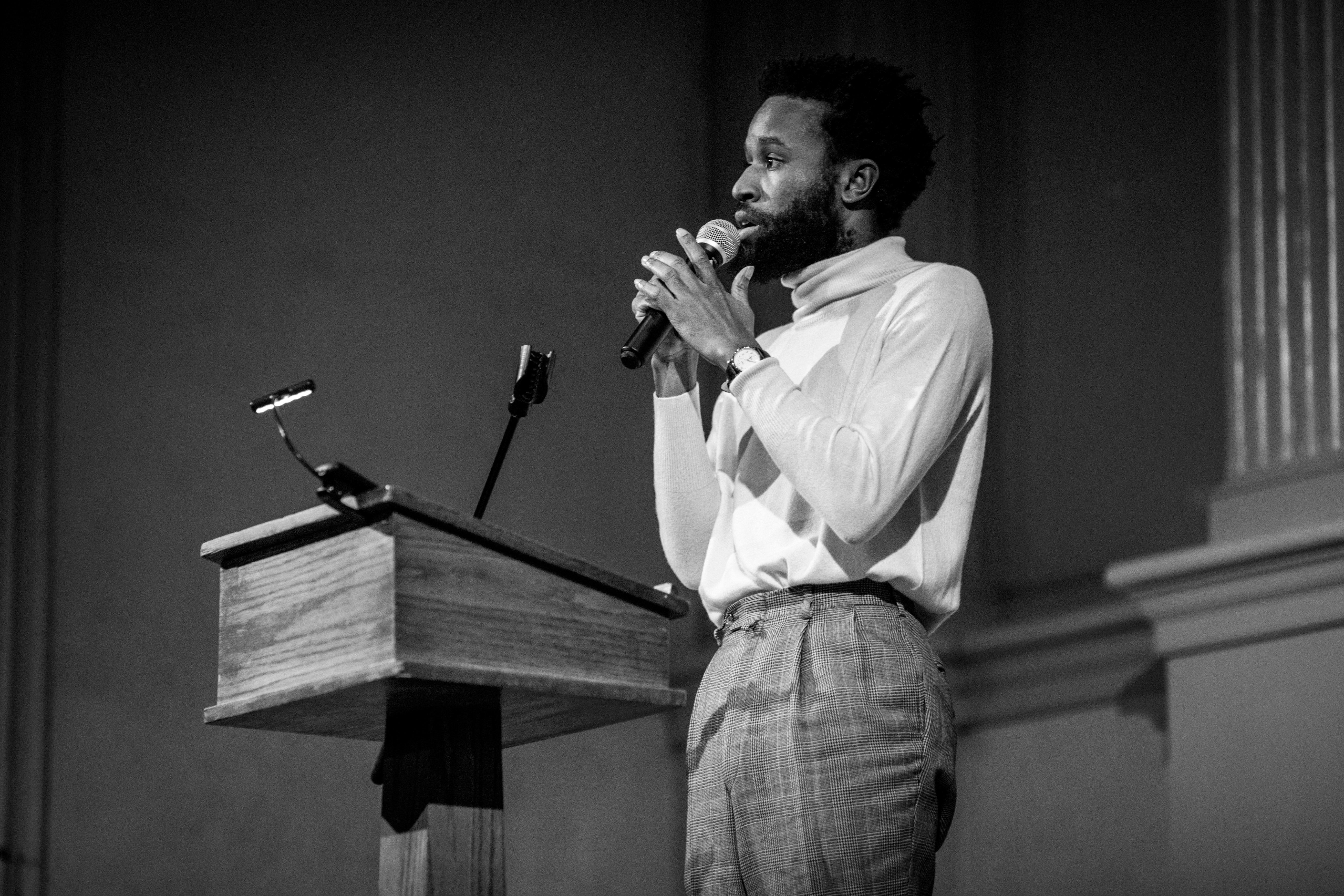 Jerome Ellis performing
