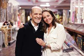 photo of la mama archive director ozzie rodriguez and actress diane lane standing in the la mama archive embracing