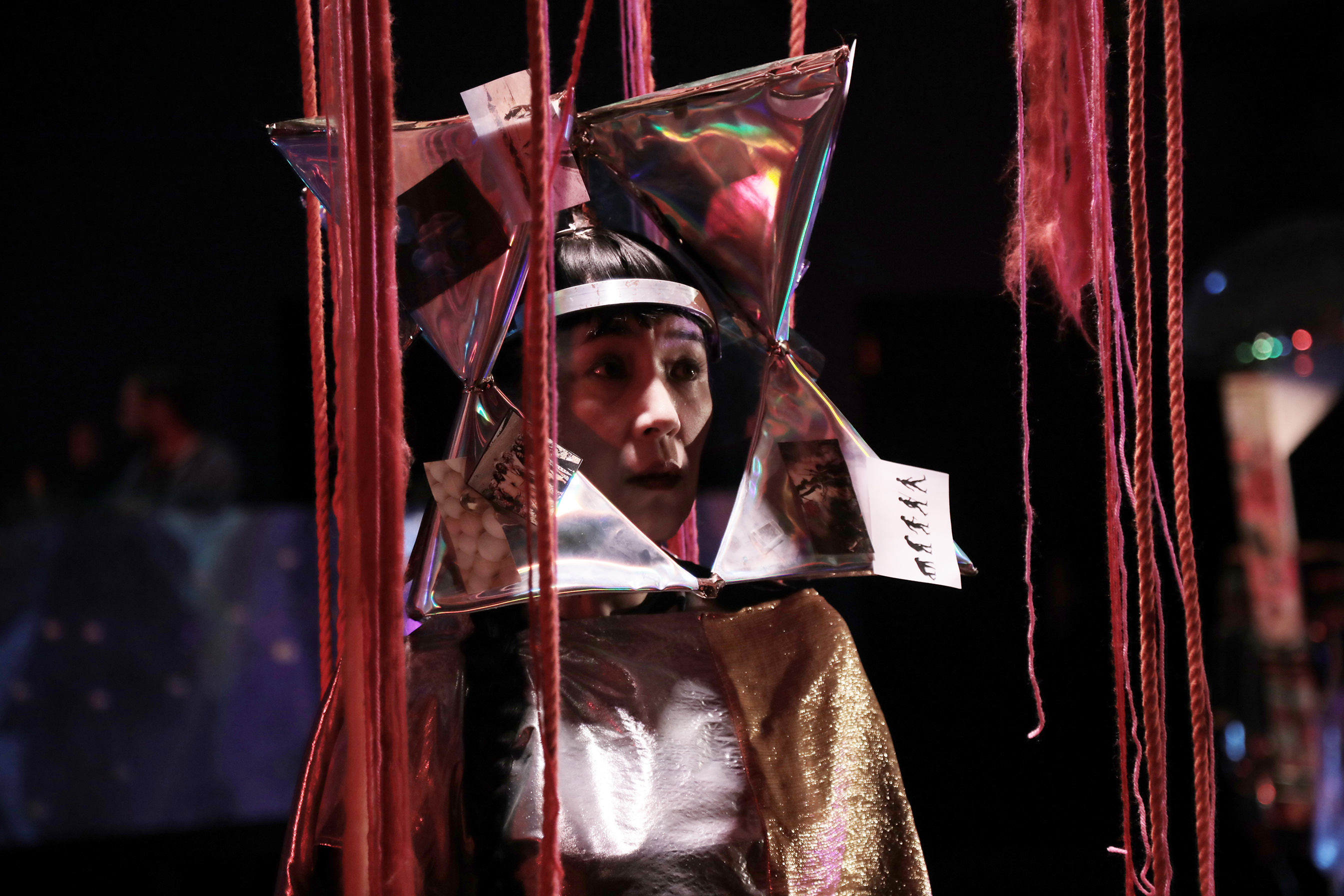 performer wearing a costume