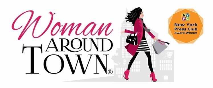 woman around town logo