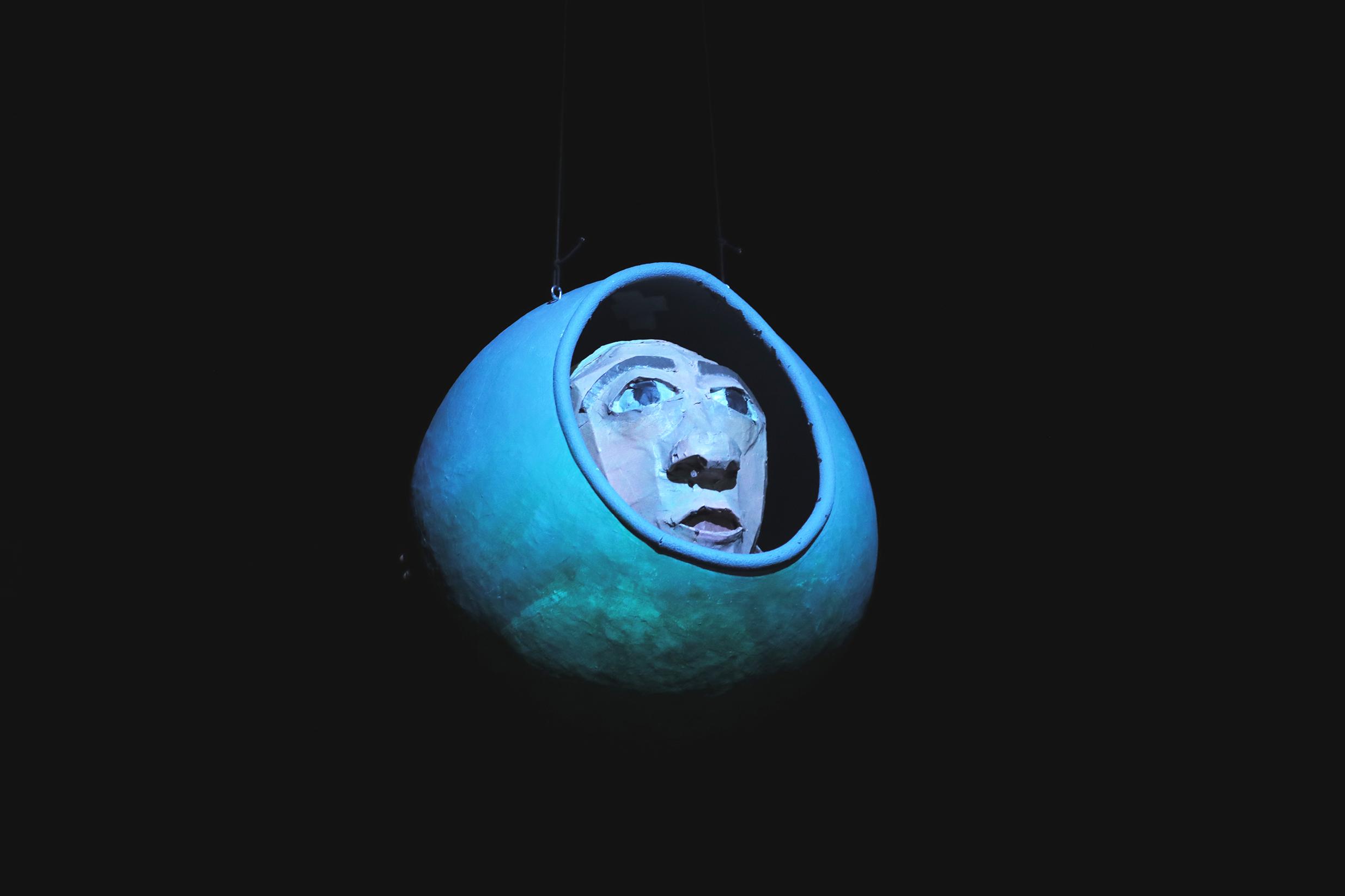a puppet of an astronaut