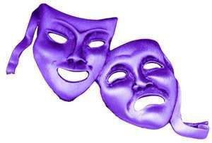 purple drama masks