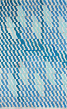 painting with a blue pattern