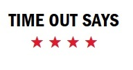 """""""time out says"""" above four red stars"""