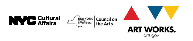 NYC cultural affairs, Art Works, and Council on the Arts logos