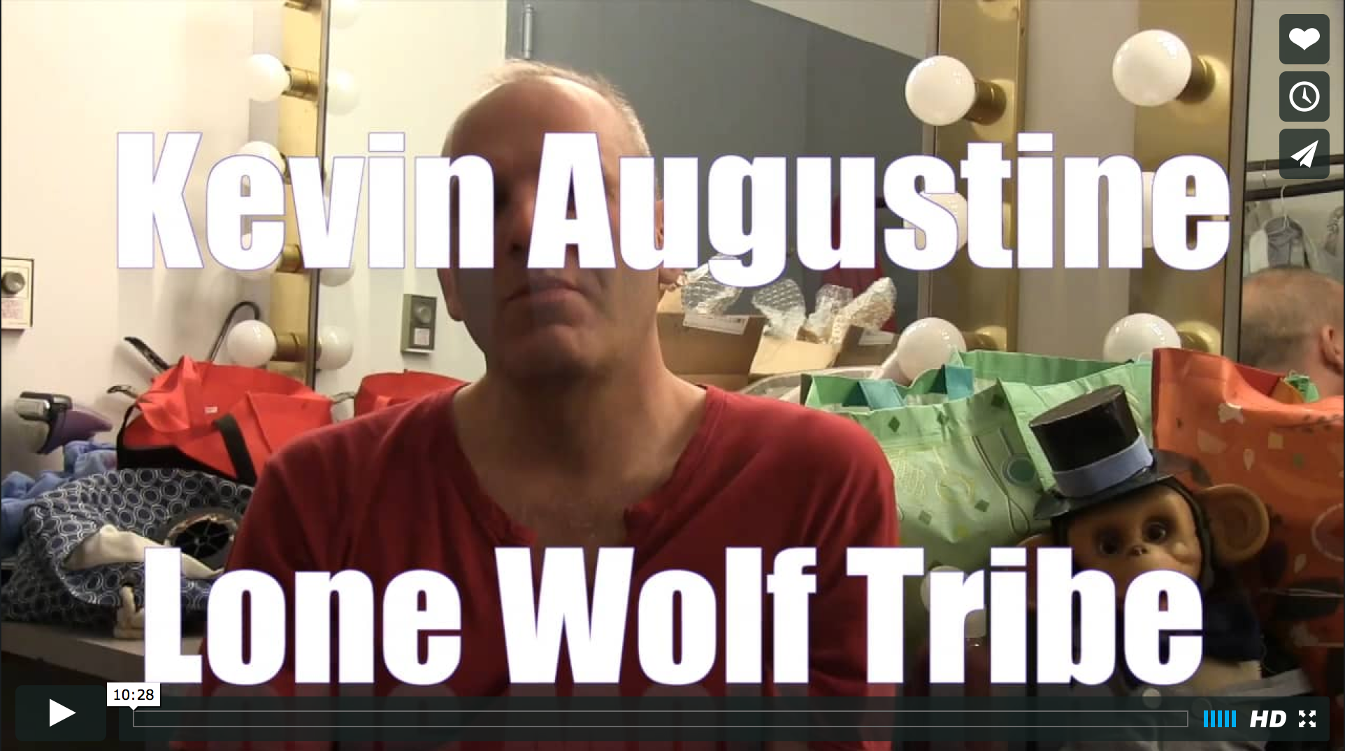 video screenshot of an interview with kevin augustine
