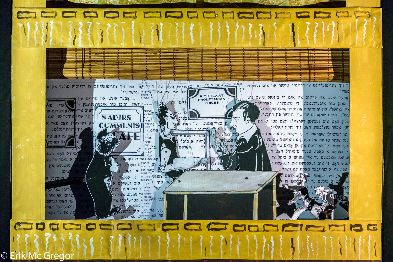 illustration of men in a cafe